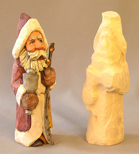 "Bell Ringing Santa Rough Out - 7"" X 2"" X 2"" - $20.00"